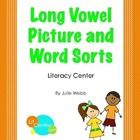 Phonics activities - Four picture and word sorts for long vowel teams:  ay/ai, ee/ea, igh/y, ow/oa - LitCentric.com