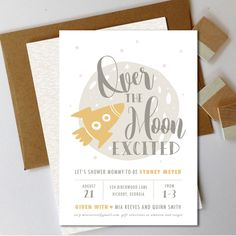 Over the Moon Baby Shower Invite   Space Baby Shower Invitation   Twinkle Baby Shower   Star   Printable Invite   Printable Invitation by MecadeDesigns on Etsy https://www.etsy.com/listing/294436345/over-the-moon-baby-shower-invite-space