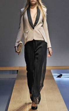 It's from the Fall Vionnet collection, but I love the masculine for spring too!