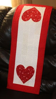 Valentine Quilted Table Runner by Thin Line Quilts