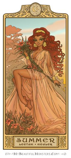 Leetah - Summer: Art Nouveau ElfQuest by MyBeautifulMonsters on deviantART