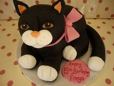 sculpted cat cake by Richard's Cakes