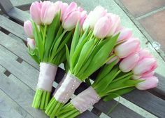 pink and green wedding bouquet tulip inspirations