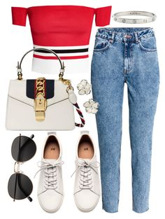 """""""Untitled #21615"""" by florencia95 ❤ liked on Polyvore featuring H&M, Gucci, Shaun Leane and Cartier"""