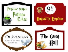 Harry Potter Signs Free Printables