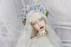 Candy Pearls flower crown handmade headband headdress headwear