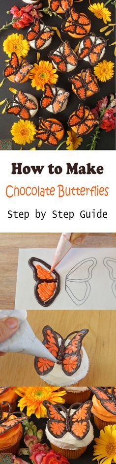 How to Make Chocolate Butterflies (Step by Step Guide) For Cupcakes