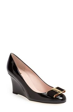 kate spade new york 'malta' saffiano patent leather wedge pump (Women) | Nordstrom