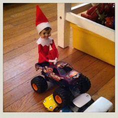 elf-on-the-shelf-monster-trucks
