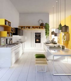 CODE #kitchen by Snaidero #yellow