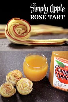 puff pastry dough and sliced apples to create individual rose tarts ...