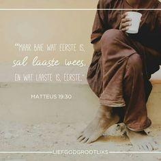TOEGEWY WEEK 3 –  DAG 5 – VRYDAG  Nie al 12 die dissipels was bekend nie, maar hulle beloning was groot LEES: Matteus 19:22-30  SOAP: Matteus 19:28-30  Voel jy onbelangrik, onbeduidend of te klein om deur God gebruik te word?  God het 'n behae daarin om groot dinge te doen met dit wat klein en irrelevant voorkom.  Niks wat ons vir God doen is ooit onnodig of verniet nie.  Selfs die kleinste dingetjie wat tot Sy eer gedoen word sal nie oorgesien word nie.