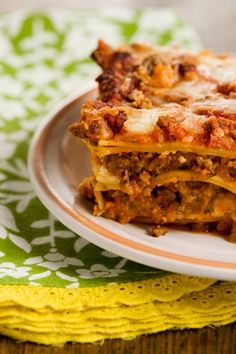 Lots O' Meat Lasagna from Paula Deen for my husband who is always searching for the perfect one :)