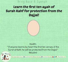 Bring back a sunnah   10 ayat of surah al-kahfi  