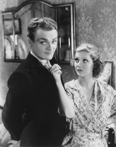 James Cagney with loretta young, in Taxi. Now this is a hot couple.