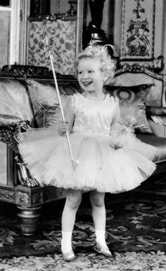 misshonoriaglossop:  Princess Anne dressed as a fairy, 1953