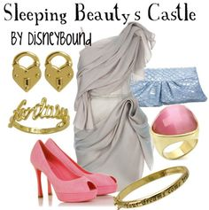 "Disney Princess Sleeping Beauty ""Sleeping Beauty's Castle""-inspired outfit. 