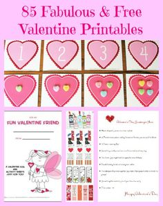 Free valentines, bookmarks, math and fun paper activities!