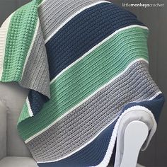 I often see requests in crochet groups for modern, boy-friendly baby blanket patterns. When I found out I was due with baby boy #3, I wanted the same!