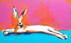 A beautiful bright acrylic painting featuring a Haughty Hare. This small painting will brighten any room. Complete with hanging sawtooth hook. Small Paintings, Original Paintings, My Etsy Shop, The Originals, Beautiful, Art, Art Background, Pocket Charts, Kunst
