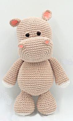 Crochet Hippo, Bobble Crochet, Crochet Amigurumi Free Patterns, Knit Or Crochet, Baby Knitting Patterns, Crochet Animals, Crochet Toys, Free Crochet, Granny Square Häkelanleitung