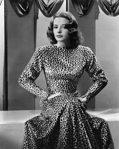 Jane Greer knows what to do with a leopard print.  1946.