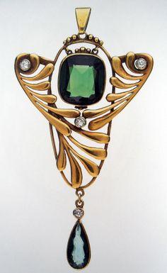 Antique jewellery, art Nouveau pendant
