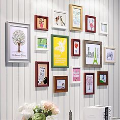 Contemporary Colorful Collage Picture Frames, Set of 16 - USD $ 119.99