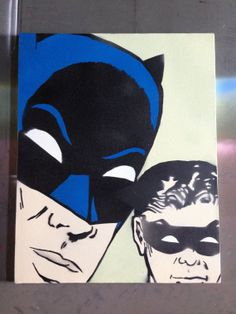 Batman Was Puzzled no.2  stencil and spray paint by KingMegatrip