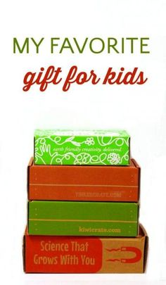 The best subscription boxes for kids. These are the absolute best gifts for kids!
