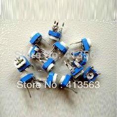 electronic book ptc thermistor resistor kit variable resistors potentiometer 13 value assorted 100 ohm ~ 1m kit 65pcs #30037