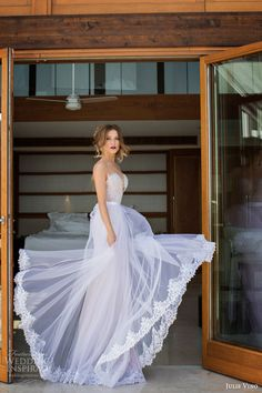 julie vino wedding dresses spring 2014 mariposa sheath wedding dress over skirt