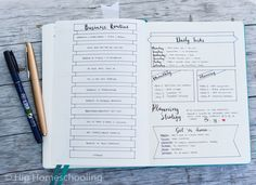business bullet journal: routine