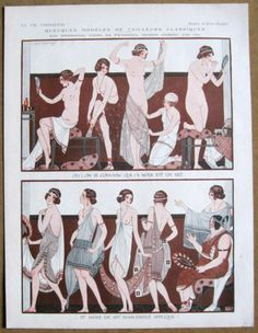KUHN REGNIER 1925 Vie Parisienne Print ANCIENT GREECE NUDE GIRLS FASHION SHOW | eBay