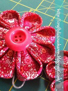 Kanzashi flower tutorial  -- Crafty'licious: May 2011