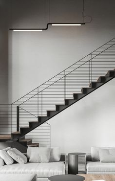Interior Architecture, Interior Design, Apartment Interior, Cool Rooms, Stairways, Home Deco, Living Area, Living Room Designs, Illustration
