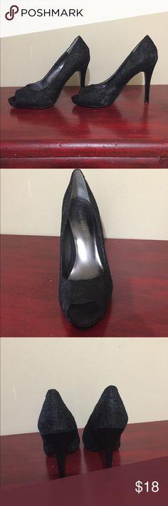 Nine West high heels 🕷🕷🕷 Comfortable black heels, pre-owned in excellent condition! Nine West Shoes Heels