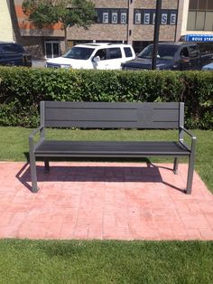 In the City of Red Deer Alberta, the Bench looks great with the City of Red Deer engraved on the back. Outdoor Sofa, Outdoor Furniture, Outdoor Decor, Red Deer Alberta, Bench, City, Home Decor, Homemade Home Decor, Benches