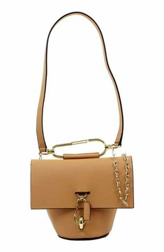ZAC Zac Posen Belay Chain Calfskin Leather Crossbody Bag