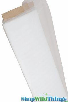 """Tulle Bulk Bolt - Plain White - 54""""x 40 yds, Wedding Tulle"""