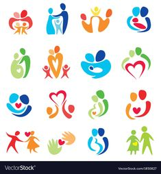 Find Happy Family Icons Vector Symbols Collection stock images in HD and millions of other royalty-free stock photos, illustrations and vectors in the Shutterstock collection. Thousands of new, high-quality pictures added every day. Logo Spa, Free Vector Images, Vector Free, Familie Symbol, Mother Daughter Art, Icon Design, Logo Design, Family Logo, Family Vector