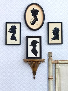 I have been entranced by silhouettes since I was a child.  I own dozens now, vintage as well as from current artists like Wendy Schultz Wubbels.