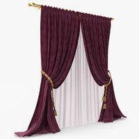 curtain blinds 3d model