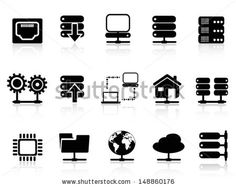 stock-vector-server-and-database-icon-148860176.jpg (450×358)