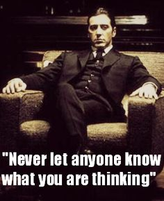 -Michael Corleone from The Godfather!!!!! You can't tell me I'm not an Italian gangsta when I watch this movie. I love the trilogy (3rd one not as much but I still watch that one too).