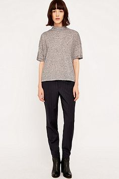 Selected Femme Cropped Turtleneck Short Sleeve T-shirt