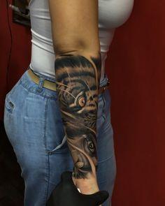 Tattoo Artist @ronaldladinoart ________________________________ #tattooselection #tattoo #tattooed #tatuaje #tatuaggio #taty #tatoo #ink… Forarm Sleeve Tattoo, Tigeraugen Tattoo, Forarm Tattoos, Best Sleeve Tattoos, Leg Tattoos, Body Art Tattoos, Tiger Tattoo Sleeve, Realistic Tattoo Sleeve, Girl Arm Tattoos
