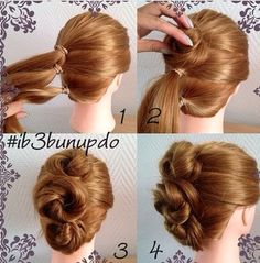 Easy Cute Hairstyles Pleasing 5 Fast Easy Cute Hairstyles For Girls  Pinterest  Low Updo Updo