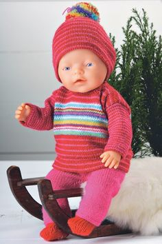 Toddler Skills for Personal Responsibility Baby Born Clothes, Preemie Clothes, Knitting Dolls Clothes, Knitted Dolls, Doll Clothes Patterns, Pet Clothes, Doll Patterns, Knitting For Kids, Baby Knitting