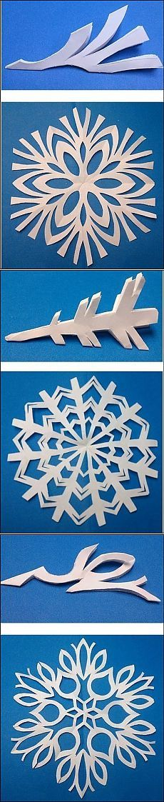 Snowflakes from paper Paper Snowflakes, Paper Stars, Christmas Snowflakes, Noel Christmas, Christmas Ornaments, Snowflake Template, Snowflake Pattern, Diy Paper, Paper Crafts